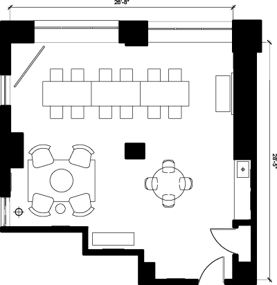 Floor plan for Breather office space 369 Lexington Avenue, 22nd Floor, Suite 2
