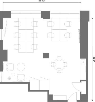 Floor plan for Breather office space 369 Lexington Avenue, 22nd Floor, Suite 2