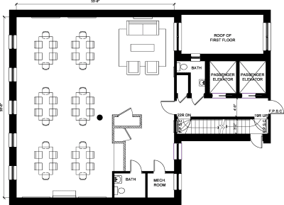 Floor plan for Breather office space 37 East 28th Street, 2nd Floor, Suite 206, Room 4
