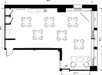 Floor plan for Breather office space 37 West 57th, 11th Floor, Suite 1101