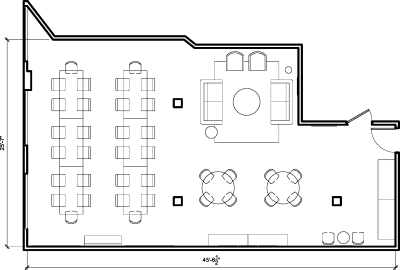 Floor plan for Breather office space 374 Congress Street, 3rd Floor, Suite 307