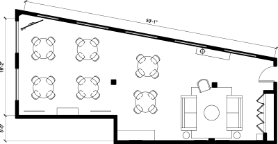 Floor plan for Breather office space 374 Congress Street, 5th Floor, Suite 500