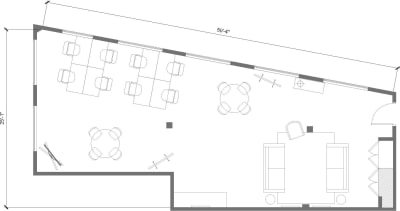 Floor plan for Breather office space 374 Congress Street, 5th Floor, Suite 500