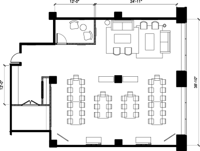 Floor plan for Breather office space 40 University Ave., 9th Floor, Suite 903