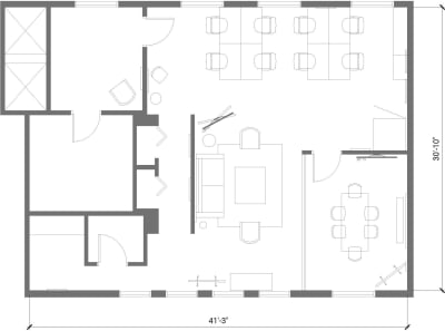 Floor plan for Breather office space 45 Bromfield Street, 10th Floor