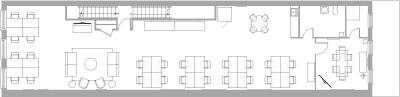 Floor plan for Breather office space 494 Broadway, 2nd Floor