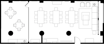 Floor plan for Breather office space 51 Federal St., 2nd Floor, Suite 207