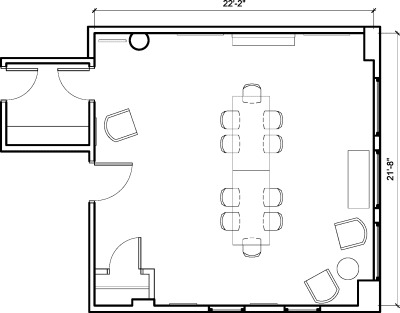 Floor plan for Breather office space 54 West 21st Street, 6th Floor, Suite 601