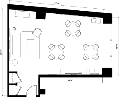 Floor plan for Breather office space 55 Broad Street, 9th Floor