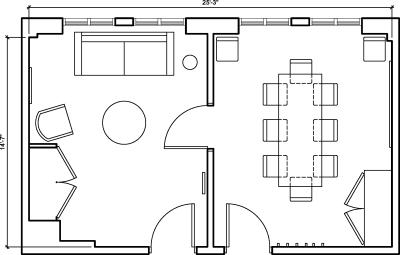 Floor plan for Breather office space 55 New Montgomery St., 3rd Floor, Suite 324