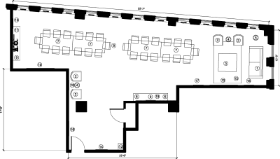Floor plan for Breather office space 555 Boulevard René-Levesque O., 12th Floor, Suite 1230