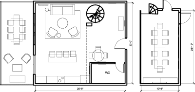 Floor plan for Breather office space 555 Rose Ave., Suite 1
