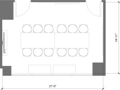 Floor plan for Breather office space 564 Market St., 3rd Floor, Suite 307