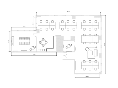 Floor plan for Breather office space 564 Market Street, 3rd Floor, Suite 316