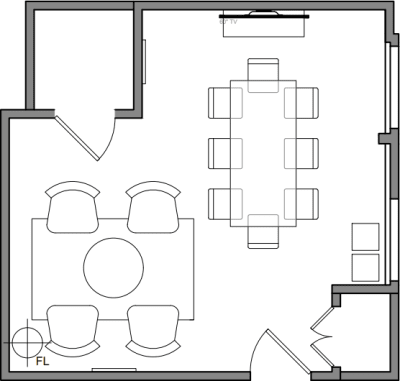 Floor plan for Breather office space 580 Broadway, 5th Floor, Suite 510