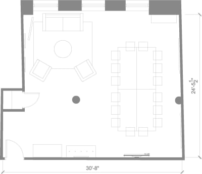 Floor plan for Breather office space 594 Broadway, 7th Floor, Suite 704