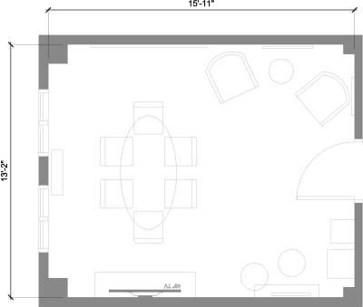 Floor plan for Breather office space 648 Broadway, 10th Floor, Suite 1003