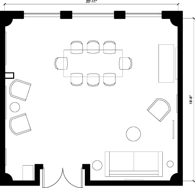 Floor plan for Breather office space 650 5th St., 4th Floor, Suite 401