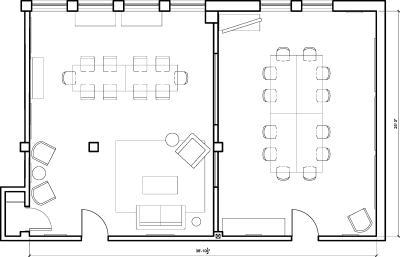 Floor plan for Breather office space 7024 Melrose Ave., Suite 200-2