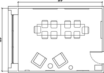 Floor plan for Breather office space 720 N. Franklin, 4th Floor, Suite 402, Room 2