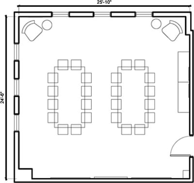Floor plan for Breather office space 7561 Sunset Blvd., 2nd Floor, Suite 203