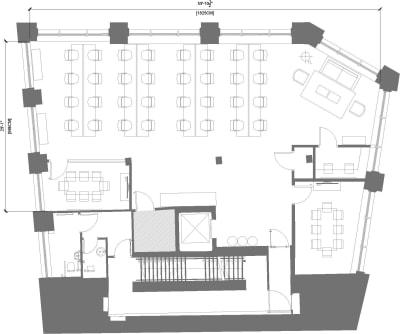 Floor plan for Breather office space 80 Clerkenwell Road, Clerkenwell, 1st Floor