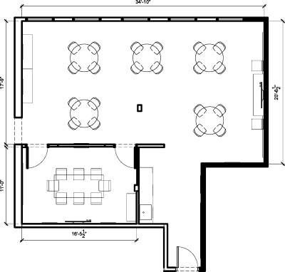Floor plan for Breather office space 813 W. Randolph, 2nd Floor, Suite 200, Room B