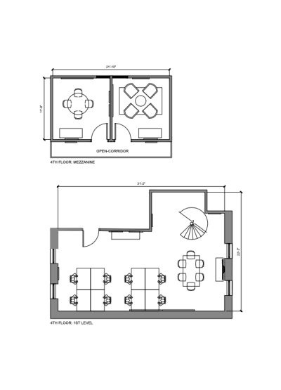 Floor plan for Breather office space 87 Wendell Street, 4th Floor, Room 2