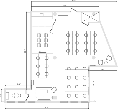 Floor plan for Breather office space 900 Broadway, 10th Floor, Suite 1003
