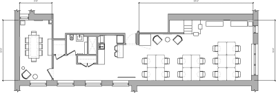 Floor plan for Breather office space 95 Grand Street, 2nd Floor