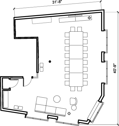 Floor plan for Breather office space 80 Clerkenwell Road, Clerkenwell, 5th Floor, Room The Penthouse