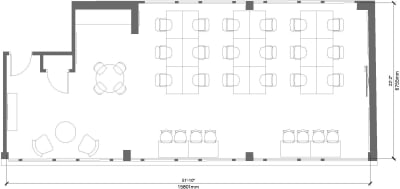 Floor plan for Breather office space 100 Clifton Street, Shoreditch, #3, 100 Clifton Street, Shoreditch, 3rd Floor, Room 3