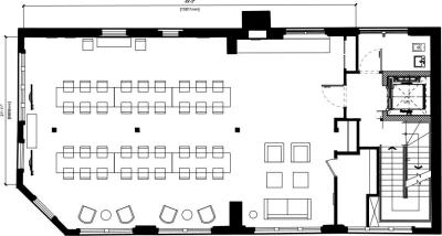 Floor plan for Breather office space 15 Crinan Street, Kings Cross, 3rd Floor