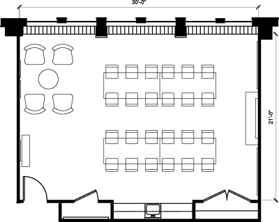 Floor plan for Breather office space 1100 G Street NW, 10th Floor, Suite 1030, Room 2