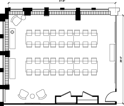 Floor plan for Breather office space 1100 G Street NW, 10th Floor, Suite 1030, Room 1