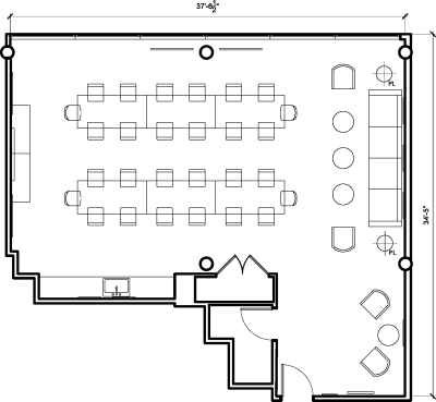 Floor plan for Breather office space 1201 Connecticut Ave. NW, 9th Floor, Suite 904