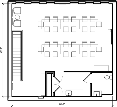 Floor plan for Breather office space 1931 9th Street NW, 2nd Floor