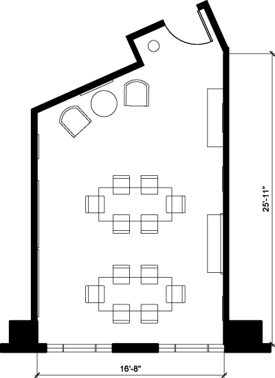 Floor plan for Breather office space 2401 Pennsylvania Ave. NW, 3rd Floor, Suite 340, Room 1