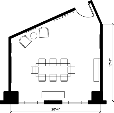 Floor plan for Breather office space 2401 Pennsylvania Ave. NW, 3rd Floor, Suite 340, Room 2