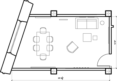 Floor plan for Breather office space 1 Dufferin Street, Shoreditch, #2, 1 Dufferin Street, Shoreditch, 4th Floor, Room 2