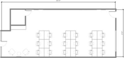 Floor plan for Breather office space 10317 Jefferson Blvd.