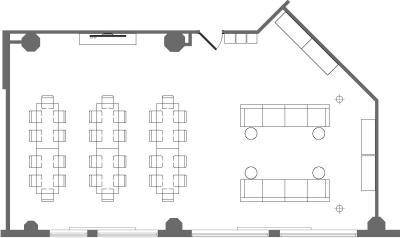 Floor plan for Breather office space 3575 Boulevard St-Laurent, 2nd Floor, Suite 217