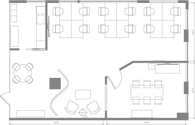 Floor plan for Breather office space Centre de Commerce Mondial, 747 Rue du Square-Victoria, 2nd Floor, Suite 2020