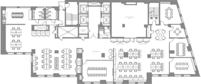 Floor plan for Breather office space Coming Soon: 1450 Broadway, 23rd Floor