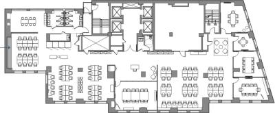 Floor plan for Breather office space Coming Soon: 1450 Broadway, 23rd Floor