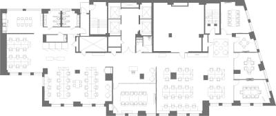 Floor plan for Breather office space 1450 Broadway, 23rd Floor
