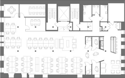 Floor plan for Breather office space Coming Soon: 54 Thompson Street, 4th Floor