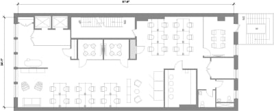 Floor plan for Breather office space 184 5th Ave, 4th Floor, Suite 400
