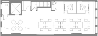 Floor plan for Breather office space Coming Soon: 23 West 23rd Street, 2nd Floor, Suite 200