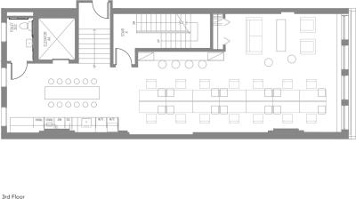 Floor plan for Breather office space Coming Soon: 23 West 23rd Street, 3rd Floor, Suite 300